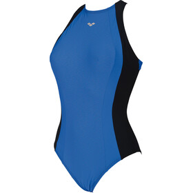arena Agate Embrace Back One Piece Swimsuit Dames, black-bright blue